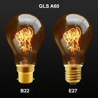 Vintage Cage Light Bulbs in Standard Size GLS A60 Light Bulb B22, E27 Dimmable