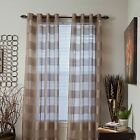 Set of 2 Sofia Grommet Sheer Striped Curtain Panels 108 in Colors