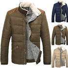 STYLISH Men Winter Thick Cotton Padded Trench Coat Quilted Jacket Parka Overcoat