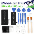 High Capacity Internal Replacement Battery For Apple iPhone 6 /6 Plus Free Tools