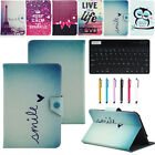 cover and keyboard for samsung tablet - For Samsung Galaxy Tab Tablet Universal Leather Case Cover + Bluetooth Keyboard