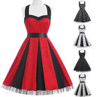 Vintage Style 50s 60s Swing Rockabilly Polka Dot Cocktail Evening Party Dresses