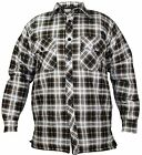 Men's Padded Work Shirts Quilted Cotton Lumberjack Shirt Top Coats Jackets 4 Col