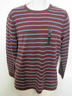 BANANA REPUBLIC Men's Burgundy Striped Crew Neck Sweater Size S,L NWT