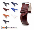 Mens Alligator Style Watch Band/Strap (BN), 18, 20, 22, 24 mm, 7 colors, new!