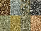50g glass seed beads - Metallic, size 6/0 (approx 4mm) - choice of 5 colours
