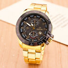 HOT Men Women Stainless Steel Date Analog Quartz Stylish Wrist