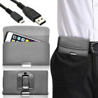 Luxury Horizontal Belt Holster Clip & Data Cable For Samsung Gaalxy A3