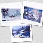 MINI LED CANVAS WITH LED LIGHT - LOVELY WINTER SNOW SCENES -  CHOICE OF THREE