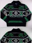 New $595 Polo Ralph Lauren 100% Merino Wool Sweater Shawl XL