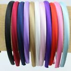 FREE SHIP 10mm HEADBAND covered satin WHOLESALE LOTS HAIR BAND ACCESSORY 2017