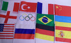 Large Hand Flags Job Lot Countries World Cup Rugby Olympic Car 30cm x 40cm