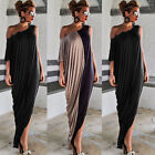 Elegant Women Ladies OFF SHOULDER Irregular Evening Party Cocktail Maxi Dress