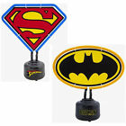 DC Comics: Logo Shaped Neon Table Light - New Official In Box Batman/Superman