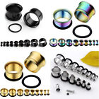 18PCS 2-14MM Cool Set Kits Stainless Steel Plugs Tunnel Ear Expander Stretcher
