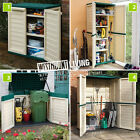 NEW PLASTIC WEATHERPROOF HOME GARDEN STORAGE WHEELIE BIN TALL UTILITY STORE