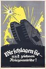 Vintage World war 1 German Tank  Poster A3 Print