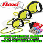 FLEXI NEON 5M 16FT RETRACTABLE DOG LEADS EXTENDING LEAD CORD TAPE 12KG 20KG 50KG
