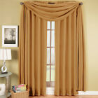 Elegance Solid Gold Rod Pocket Window Treatment, 100% Polyester Single Panel