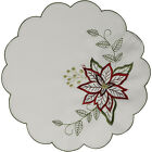 "Decorative Floral Christmas Doilies Pack of 2 Festive Xmas Table Mats 8"" or 12"""