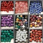 Frosted Matte Natural Gemstones Spacer Round Loose Beads 4mm 6mm 8mm 10mm 12mm