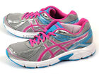Asics Patriot 7 Silver/Pink Glow-Turquoise Sportstyle Running Shoes T4D6N-9335