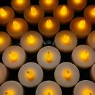 24 X LED TEA LIGHT TEALIGHT CANDLE FLAMELESS WEDDING DECORATION BATTERY INCLUDED