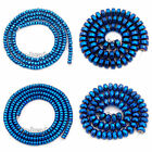 Blue Hematite Rondelle Spacer Beads 16'' 2mm 3mm 4mm 6mm 8mm Smooth Faceted