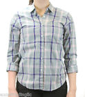 STEVEN ALAN Seafoam Green Plaid Reverse Seam Button Down Shirt WST03CT NWT $158