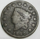 1822 1C Coronet Head Copper Large Cent Circulated