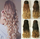 """25"""" Long Ombre Hair Thick One Piece Full Head Dip Dyed Clip in Hair Extensions"""