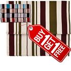 BARGAIN *EASYFIT* HESSIAN ROMAN BLINDS - STRIPED - 5 COLOURS AVAILABLE