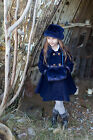 Girls Winter Coat Hat Bag Handwarmer in Navy by Couche Tot Age 1 to 9 Years