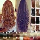 UK One Piece Full Head Clip In Hair Extension Real Thick/Long Synthetic Human F5
