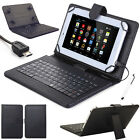 """Micro USB Keyboard Leather Case Cover For Amazon Kindle Fire 7 7"""" 5th Gen 2015"""