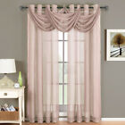 "Abri Sheer Decorative Waterfall Valances  24"" Wide x 24"" Long (Single)"