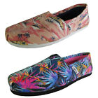 Toms Womens Classic Canvas Printed Palms Slip On Shoe