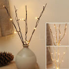 16 LED BATTERY WARM WHITE FAIRY TWIG BRANCH VASE LIGHT DECORATIVE HOME XMAS