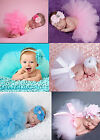 Hot Newborn Headdress flower+Tutu Clothes Skirt Baby Girls Photo Prop Outfits