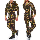 G8ONE Herren Damen Jumpsuit Jogging Anzug Trainingsanzug Overall Army Camo