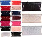 LADIES PATENT SUEDE SHIMMER FOLD OVER ENVELOPE WEDDING PARTY EVENING CLUTCH BAGS