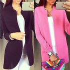 Stylish Women Outwear Parka Blazers Long Sleeve Cardigan Coat Overcoat Jacket