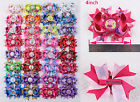 Lot 4pc~100pc 4inch shopkins Pony Minions Hair Bows clip with Bottle caps 2005B