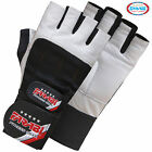 Farabi Weight Lifting Gym Training Fitness Gloves Leather Wrist Support