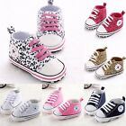 New Infant Toddler Baby Boy Girl Soft Sole Canvas Shoes Leopard Sneaker Newborn