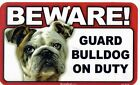 Beware! Guard Dog On Duty Signs: 16 Breeds: Chow,  Brittany,  Pekingese,  Bernese..