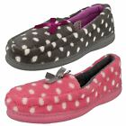Ladies Jyoti Spotty Slippers with Bow Detail in 2 Colours Style CARNIVAL