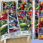 Marvel Avengers Team Single Rotary Duvet and Matching Curtains Set New Gift