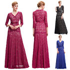 VINTAGE 50's LACE Long Evening Prom Party Masquerade Gown Wedding COCKTAIL Dress