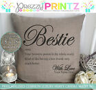 PERSONALISED BESTIE DAD MOM GLAM-MA NANNY AUNT CUSHION BIRTHDAY CHRISTMAS GIFT